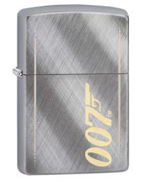 James Bond 007 Gun Logo Zippo Lighter in Diagonal Weave 29775