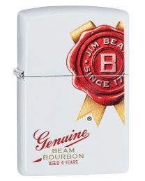 Jim Beam Genuine Zippo Lighter in Matte White 29780