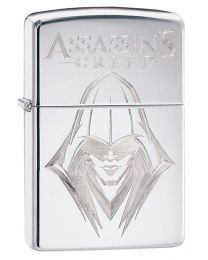 Assassins Creed Ezio Zippo Lighter in Polished Chrome 29786