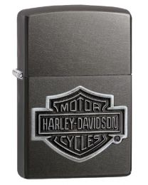 Harley Davidson Logo Zippo Lighter in Grey Dusk 29822