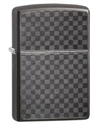 Iced Carbon Fibre Design Zippo Lighter in Grey Dusk 29823