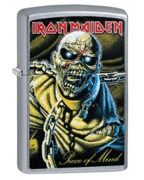 Iron Maiden Piece Of Mind Zippo Lighter in Street Chrome 29876