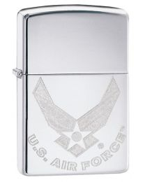 US Air Force Logo Zippo Lighter in Polished Chrome 29887