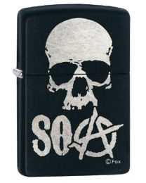 Sons Of Anarchy Skull Zippo Lighter in Matte Black 29891
