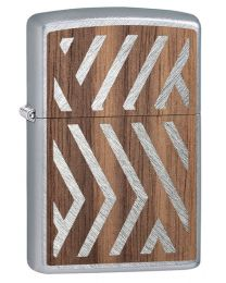 Woodchuck Sweep Walnut Zippo Lighter in Herringbone Sweep 29902