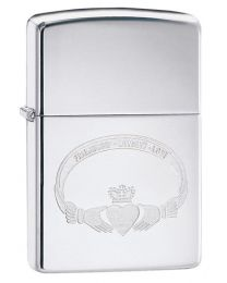 Friendship Loyalty Love Claddagh Zippo Lighter in Chrome 60002416