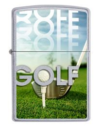 Golf Zippo Lighter in Satin Chrome 60002906