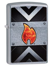 Industrial Flame Zippo Lighter in Street Chrome 60003326