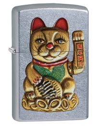 Maneki-Neko Lucky Cat Zippo Lighter in Street Chrome 60003504