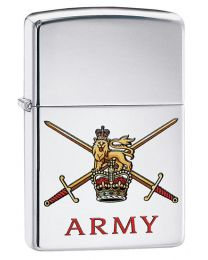 British Army Crest Zippo Lighter in Polished Chrome 60003639