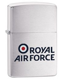 Royal Air Force RAF logo Zippo Lighter in Brushed Chrome 60003642