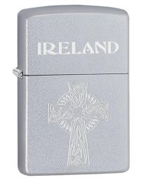 Celtic Cross Zippo Lighter in Satin Chrome 60003650