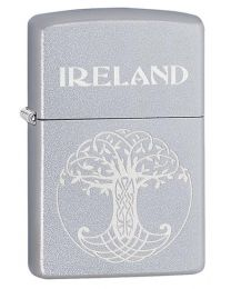 Celtic Tree Of Life Zippo Lighter in Satin Chrome 60003652