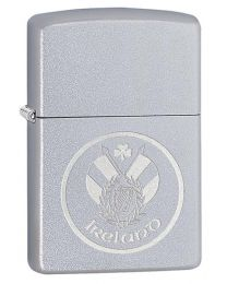 Ireland Patch Zippo Lighter in Satin Chrome 60003654