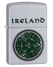 Ireland Celtic Knot Design Zippo Lighter in Satin Chrome 60003661