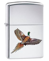 Pheasant Zippo Lighter in Polished Chrome 60003989