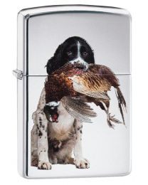 Springer Spaniel Zippo Lighter in Polished Chrome 60003990