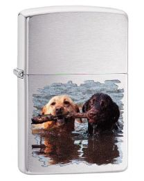 Labradors Zippo Lighter in Brushed Chrome 60003991
