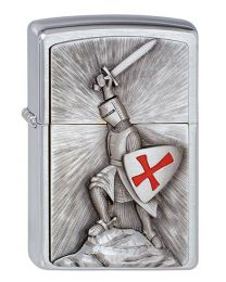 Crusade Victory Zippo Lighter in Brushed Chrome 1300103