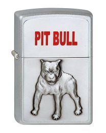 Pit Bull Zippo Lighter in Satin Chrome 1320048