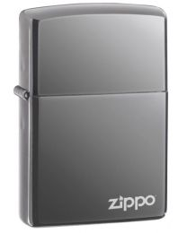 Black Ice Zippo Lighter with Logo 150ZL