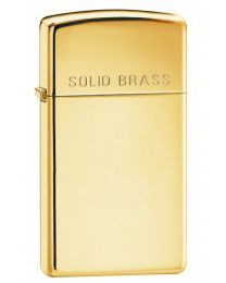 Slim Polished Brass Zippo Lighter 1654