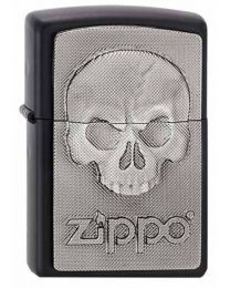 Phantom Skull Emblem Zippo Lighter - Matte Black 2003546