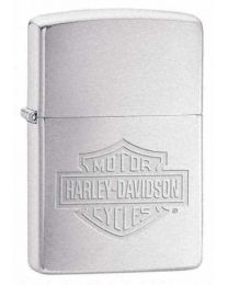 Harley Davidson Logo Etched Chrome Zippo Lighter