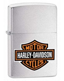 Harley Davidson Coloured Logo Chrome Zippo Lighter