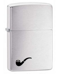 Brushed Chrome Pipe Lighter 200PL