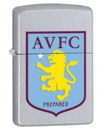 Aston Villa FC Official Zippo Lighter (Satin Chrome) 205AVFC