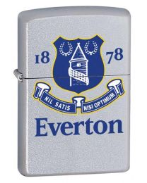 Everton Official Zippo Lighter (Satin Chrome)