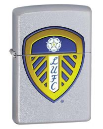 Leeds United Official Zippo Lighter (Satin Chrome)