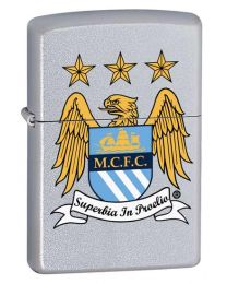 Manchester City Official Zippo Lighter (Satin Chrome)