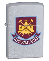 West Ham United Official Zippo Lighter (Satin Chrome)