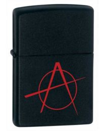 Anarchy Black Matte Zippo Lighter 20842