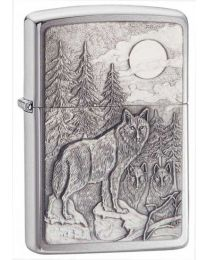 Timberwolves Brushed Chrome Zippo Lighter 20855