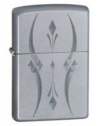 Pristine Curves Zippo Lighter in Satin Chrome