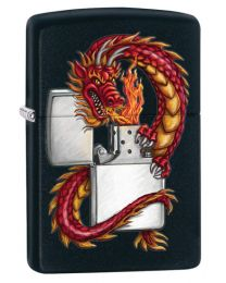 Dragon Zippo Lighter in Matte Black 218DRAG