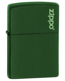 Matte Green Zippo Lighter with Logo 221ZL