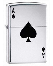 Lucky Ace Chrome Zippo Lighter 24011
