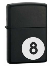 8 Ball Matte Black Zippo Lighter 28432