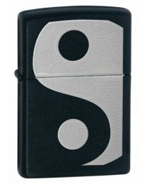 Yin and Yang Black Matte Zippo Lighter 24472