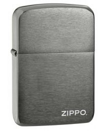 1941 Replica Black Ice Zippo Lighter With Logo 24485