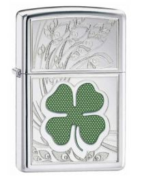 Four Leaf Clover Thumbprint Zippo Lighter 24699
