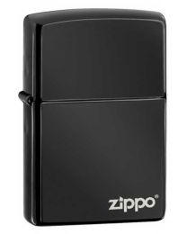 Ebony Zippo Lighter with Logo