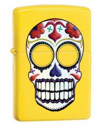 Day of the Dead Skull Lemon Zippo Lighter 24894