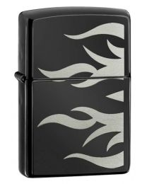 Tattoo Flame Zippo Lighter (Ebony) 24951