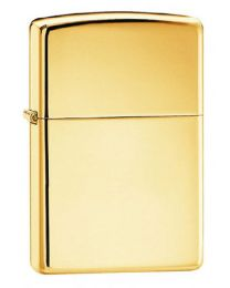 Plain Polished Brass Zippo Lighter 254B