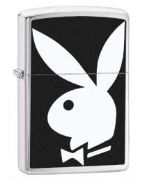 Playboy Bunny Zippo Lighter (Brushed Chrome) 28269